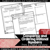 Comparing & Ordering Rational Numbers Guided Cornell Notes