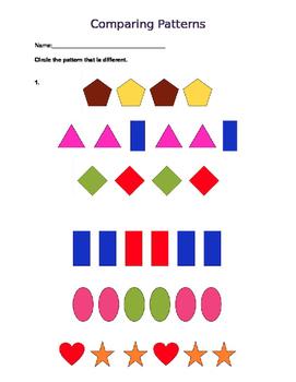Comparing Patterns Worksheet