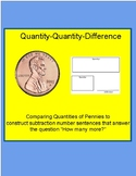 Comparing Penny Amounts- Quantity Quantity Difference