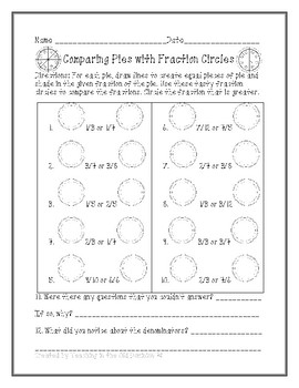 Comparing Pies with Fraction Circles