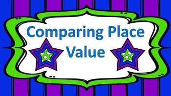 Comparing Place Value Multiple Choice Task Cards
