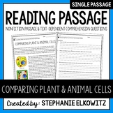Comparing Plant and Animal Cells Reading Passage