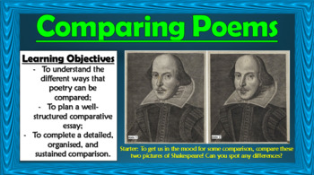 Comparing Poems!