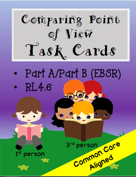 Comparing Point of View Task Cards- Part A/Part B Format (EBSR)