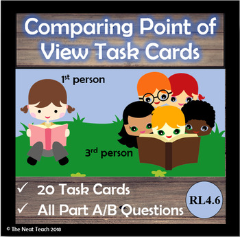 Comparing Point of View Task Cards- Part A Part B Format (EBSR)