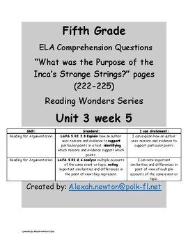 Comparing Points of View McGraw Hill Reading Wonders RWW  U3W5