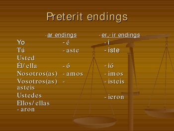 Comparing Preterit and Imperfect tenses