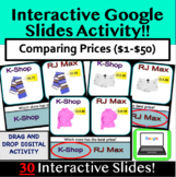 Comparing Prices: Clothing Store **Google Slides** Distance Learning Money Math