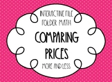 Comparing Prices File Folder Activities