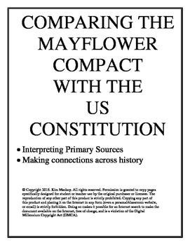 Comparing Primary Sources: Mayflower Compact and US Constitution