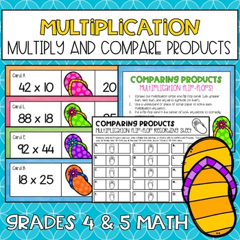 Comparing Products Multiplication Activity
