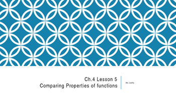 Comparing Properties of Functions