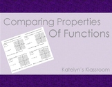 Comparing Properties of Functions Notes