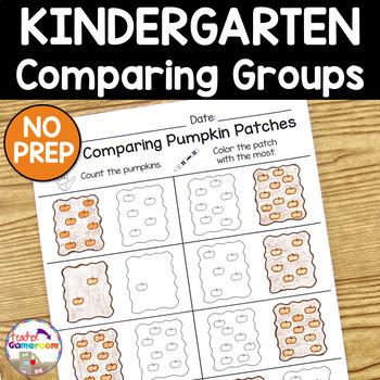 Comparing Pumpkin Patches - Math Worksheets K.CC.6