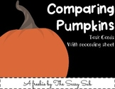 Comparing Pumpkins: Ten task cards with recording sheet *Freebie*