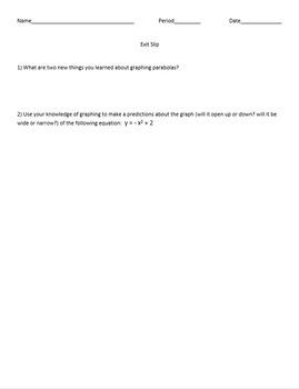 Comparing Quadratic Graphs