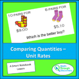Comparing Quantities - Unit Rates