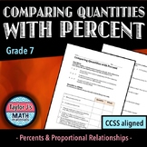 Comparing Quantities with Percent Worksheet