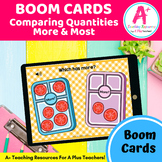 Comparing Quantity More & Less BOOM Cards Distance Learning