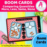 Comparing Quantity More, Less, Same & None BOOM Cards Dist
