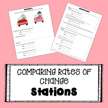 Comparing Rates of Change - STATIONS