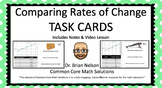 Comparing Rates of Change (Task Cards, Notes & Video Lesson)