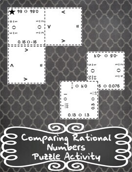 Comparing Rational Number Puzzle