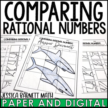 Comparing Rational Numbers Solve and Sketch Activity