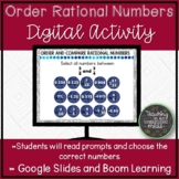Comparing Rational Numbers Digital Activity | Distance Learning