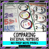 Comparing Rational Numbers No Prep Note Page