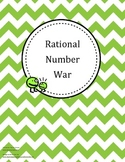 Comparing Rational Numbers War Game - Fractions, Decimals