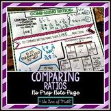 Comparing Ratios No Prep Note Page