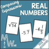 Comparing Real Numbers Card Game