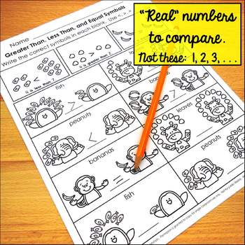 Comparing Real Numbers and Writing Math Symbols/Greater than, Less Than, Equals