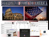 Comparing Roman Empire to United States of America - Worksheets / Project