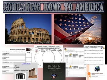 Comparing Roman Empire to United States of America - Works