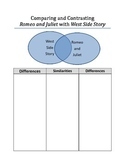 Comparing Romeo and Juliet with West Side Story Graphic Organizer FREEBIE
