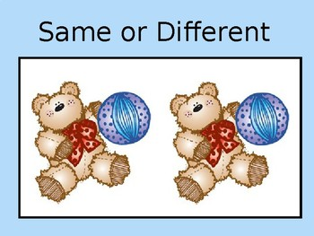 Comparing Same and Different