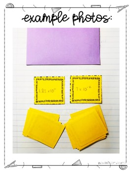 Comparing Scientific Notation Lesson for Interactive Notebooks