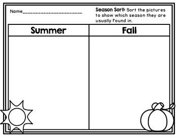 Comparing Seasons: Summer and Fall