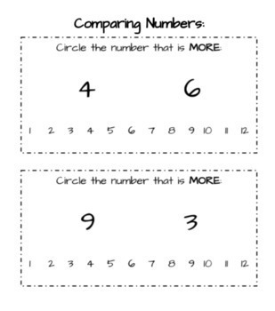 Comparing Sets and Numbers Packet