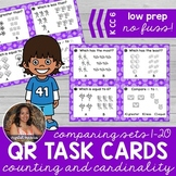 Comparing Sets of Objects 1-20 *QR* MATH TASK CARDS