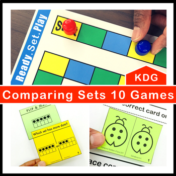Comparing Sets to 10 Games and Centers Kindergarten