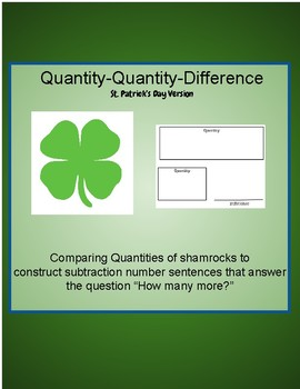 Comparing Shamrock Amounts- Quantity Quantity Difference