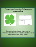 Comparing Shamrock Amounts- Quantity Quantity Difference
