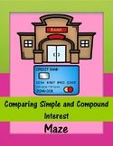 Comparing Simple and Compound Interest Maze