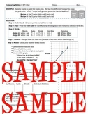 Comparing & Simplifying Ratios: 2 Versions, with or without graph (Grade 6-8)