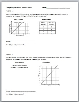 Comparing Situations Practice Sheet