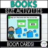 Comparing Size Sorting Ordering Books BOOM Cards Distance