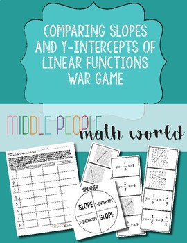 Comparing Slopes and Y-Intercepts of Linear Functions War Game
